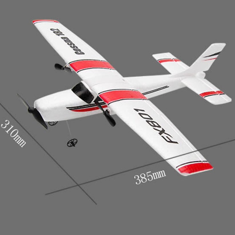 DIY RC Plane Toy EPP Craft Foam Electric Outdoor Remote Control Glider FX-801 Remote Control Airplane DIY Fixed Wing Aircraft image