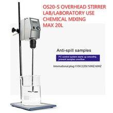 Mezclador eléctrico Digital LED de laboratorio 20L agitador aéreo 50/60Hz 50 2200rpm equipos de laboratorio químico suministros para oficina y escuela