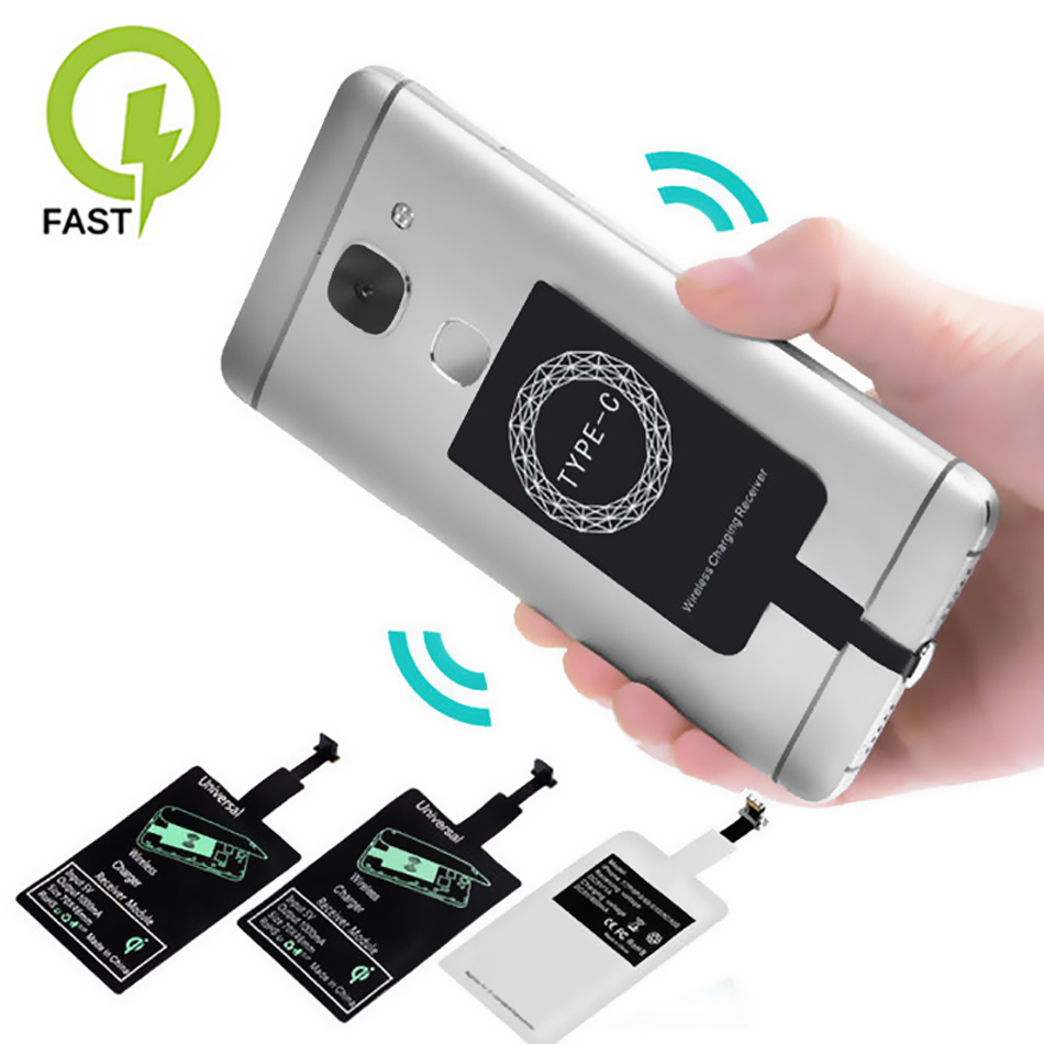 Receiver-Coil Dock-Connector Charge-Pad Phone Induction Micro-Usb Wireless-Charger Type-C title=
