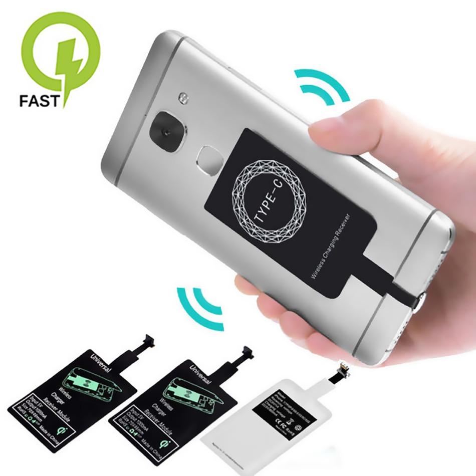 Беспроводное зарядное устройство Qi с поддержкой Micro USB Type-C, индукционный приемник, катушка для iPhone, телефона, беспроводное зарядное устройст...