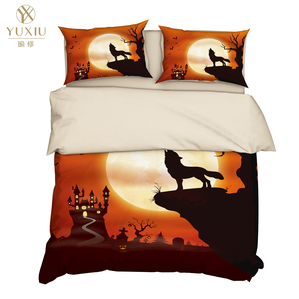 YuXiu 3D Printing Animal Wolf Duvet Covers 3Pcs Sets Bedding Set Bed Linen Cover Pillowcases King Queen Full Twin Double