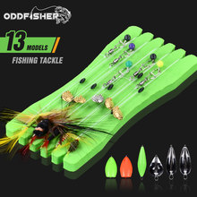 Isca de pesca com mosca conjunto acessórios kit sinker spinner tackles linha grupo giros gancho isca artificial truta duro mini moscas