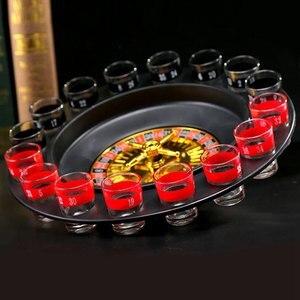 Image 5 - RISE nouveauté boisson créative plateau tournant jouets Roulette russe roue 16 tasses à vin Bar KTV nuit fête divertissement