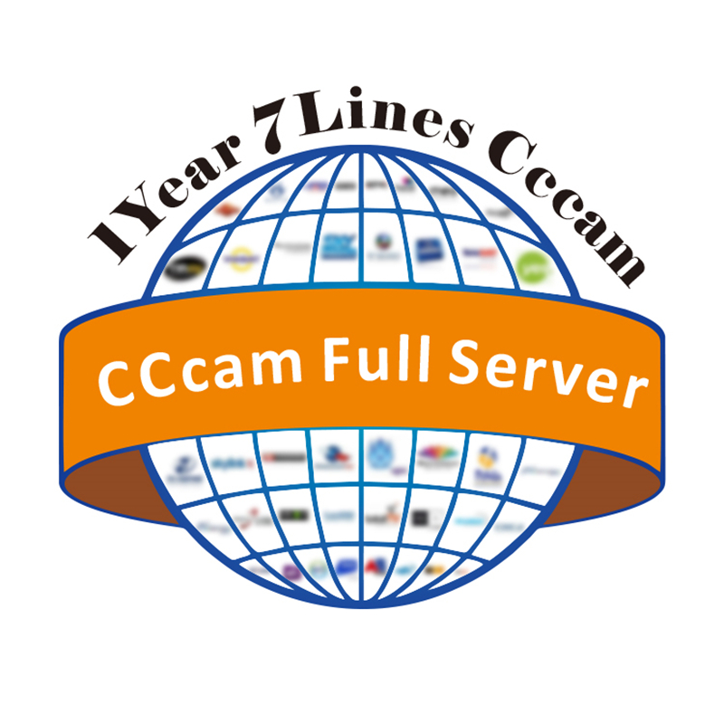 Купить с кэшбэком Spain CCCAM For DVB-S2 Receptor Cccam cline 7 /10lines 1 year tv Receiver 4/8lines WIFI FULL HD Support Ccams Free testing