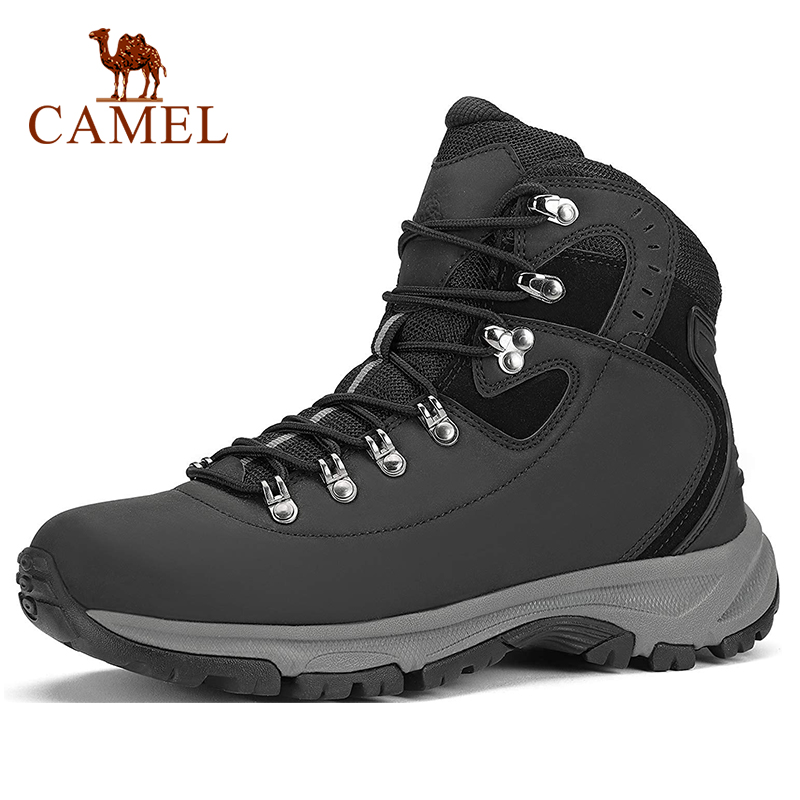 CAMEL Men High-top Waterproof Hiking Shoes Climbing Trekking Boots Outdoor Shoes Anti-slip Tactical Boots Shoes US Size 7-12
