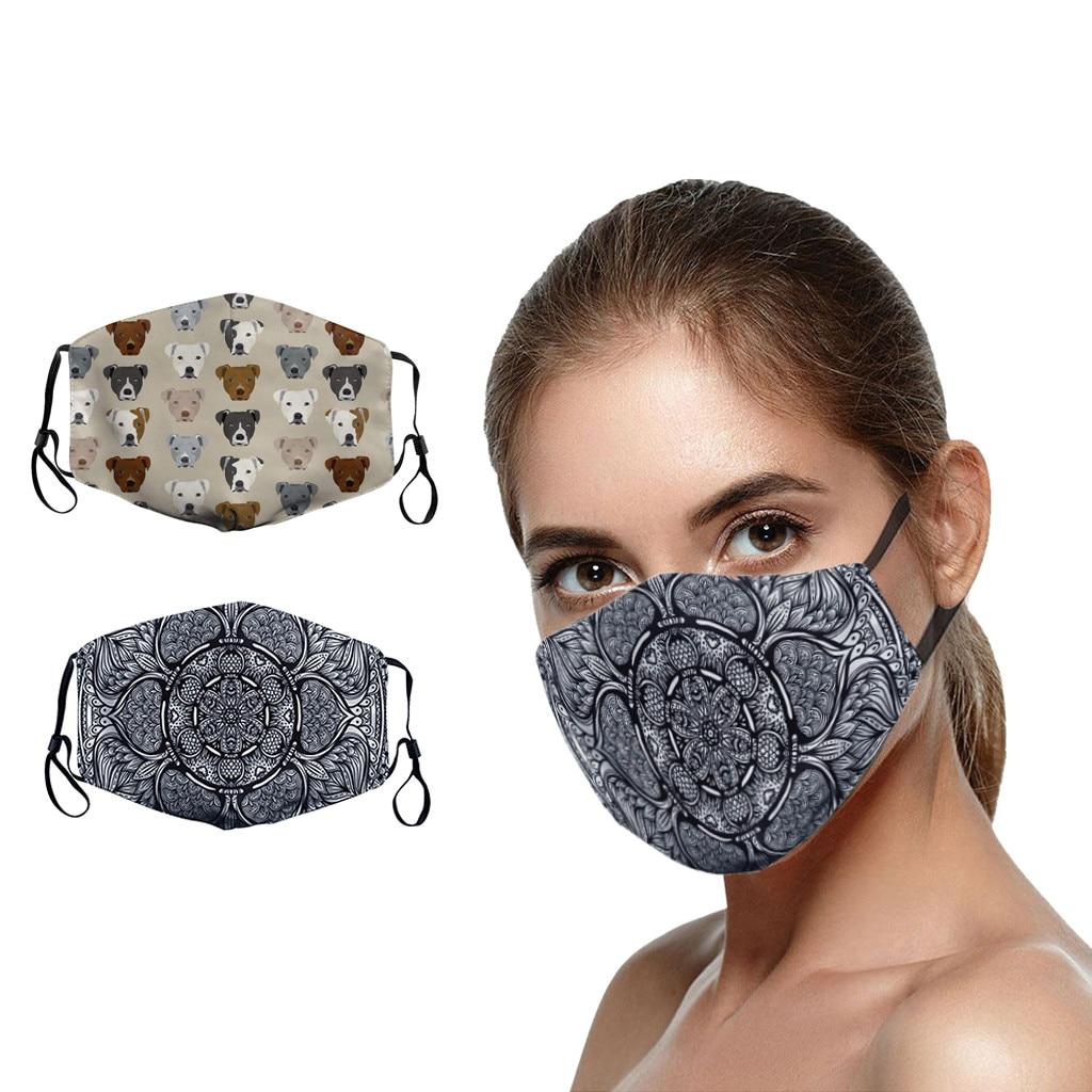 1pc unisex adulto moda máscara reutilizável proteção pm2.5 filtro de rosto impressão unsiex homem mulher anti máscara de poeira boca-muffle máscara
