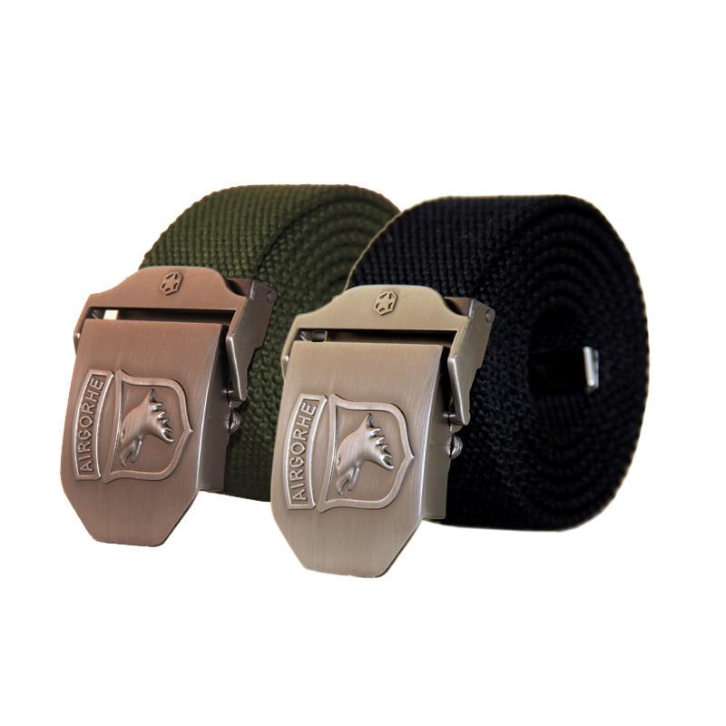 2020 Hot Men Canvas Combat Belt Military Equipment High Quality Nylon Casual Canvas Belt Luxury For Men Tactical Brand Symbol 2
