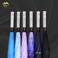 LED Light Handle Reverse Umbrella ร่มร่มทุกสภาพอากาศพลิกแฮนด์ฟรีร่ม qi che san Cus