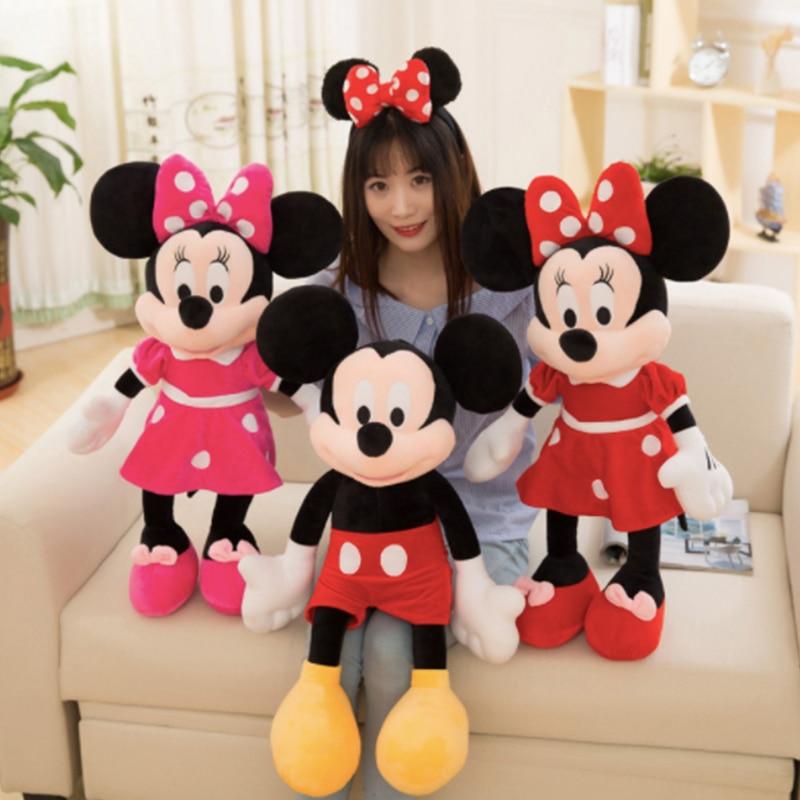Neue 10/30/40/50cm Mickey Maus Minnie Plüsch Puppen Tier Plüschtiere Geburtstag Weihnachten Geschenk für Kinder