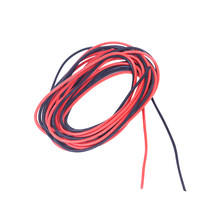 12/14/16/18/20/24AWG Silicone Wire 10 Meter (5M red and 5M black color) High Temperature Resistant Electric Wire Cables