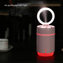 Mini Air Ultrasonic Humidifier USB Charging 7Color Led Mirror Night Light Moisture Replenishment Makeup for Home Car Office