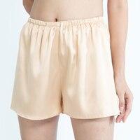 100% Natural silk satin pants pug lounge wear pajama pants sleep shorts silk shorts sleep bottoms boxer women safety shorts