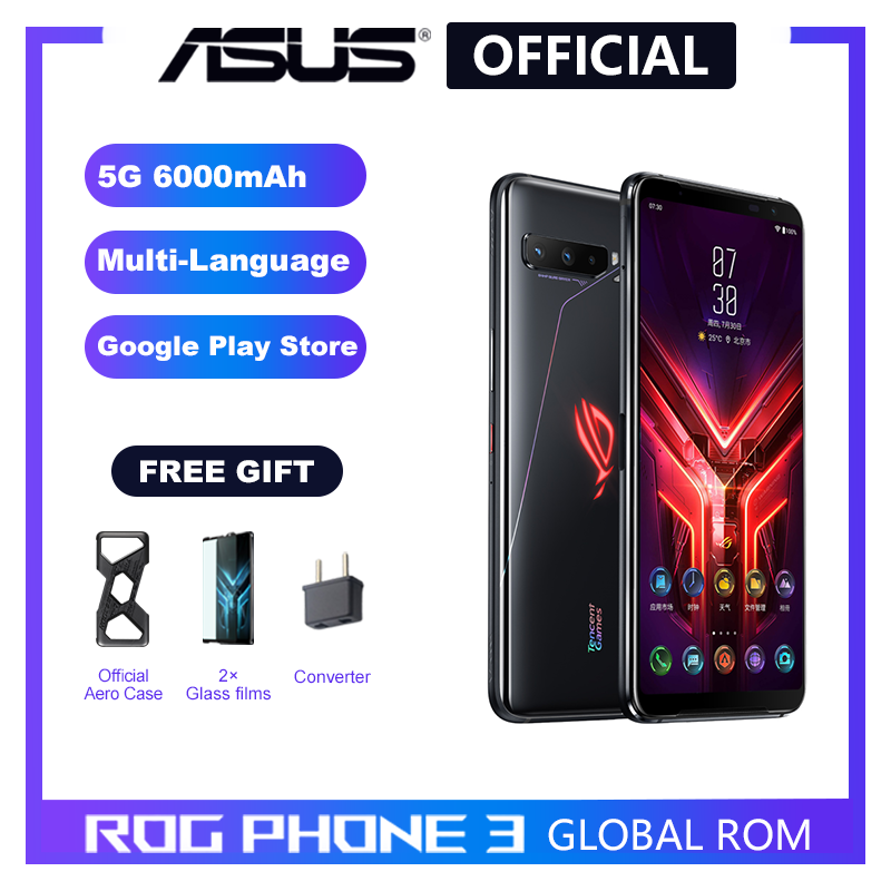 ASUS Snapdragon 865 ROG Phone 3-5g 128GB GSM/5G/CDMA2000/.. Adaptive Fast Charge Gorilla glass/5g wi-fi/Game turbogpu turbo/Bluetooth 5.0