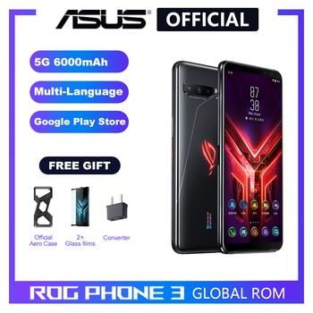 Перейти на Алиэкспресс и купить ASUS ROG Phone 3 5G Смартфон Snapdragon 865/865Plus 128 ГБ 256 ГБ Rom 6000 мАч NFC Android Q 144 Гц FHD + AMOLED игровой телефон ROG3