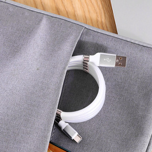 Image 5 - Magic Rope Cable for iPhone Samsung Hauwei Xiaomi LG Magnetic Automatically Retractable Magic Rope Data Cable Micro USB Type C