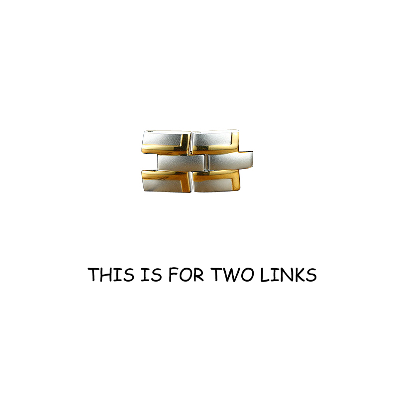2 silver gold links