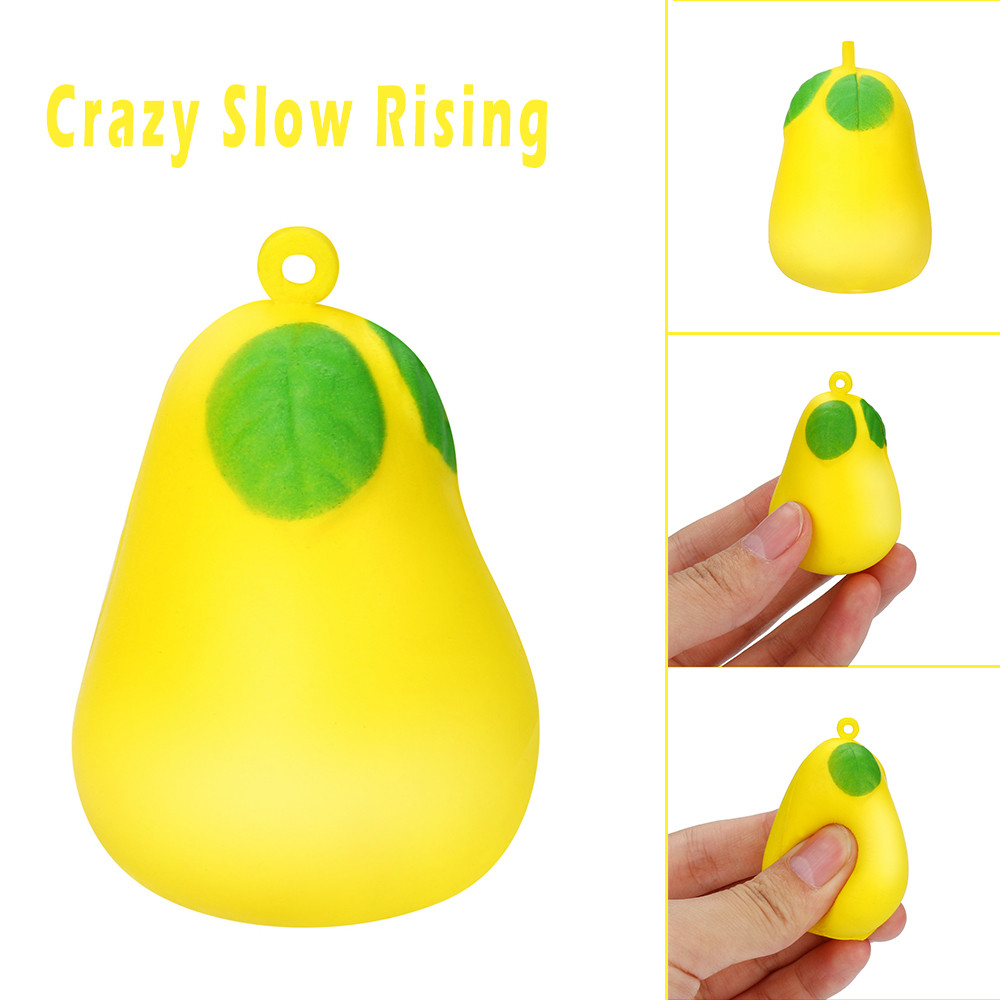 Mini Cute Pear Squeeze Toy Slow Rising Cream Scented Stress Reliever Toy @A