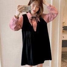 Korean Fashion Maternity Clothes Fake Two Clothes for Pregnant Women Spring Autumn Breast-feeding Pregnancy Women's Clothing