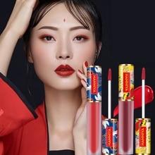 Esmalte de labios estilo chino Vintage hidratante brillante y brillante diosa encantadora fácil de aplicar Ruddy lustroso para proteger los labios