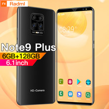 Note9 artı Smartphone 6.1 inç 4G 5G 8MP + 13MP 6GB + 128GB 4800mAh Unlocked cep telefonu Android Telefones Celulares küresel sürüm
