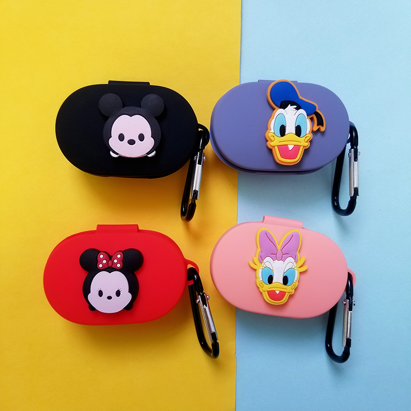 Cartoon Cute Earphone Case For Xiaomi Redmi Airdots Case Silicone Cover Bluetooth Earphone Case With Hook For Redmi Airdots