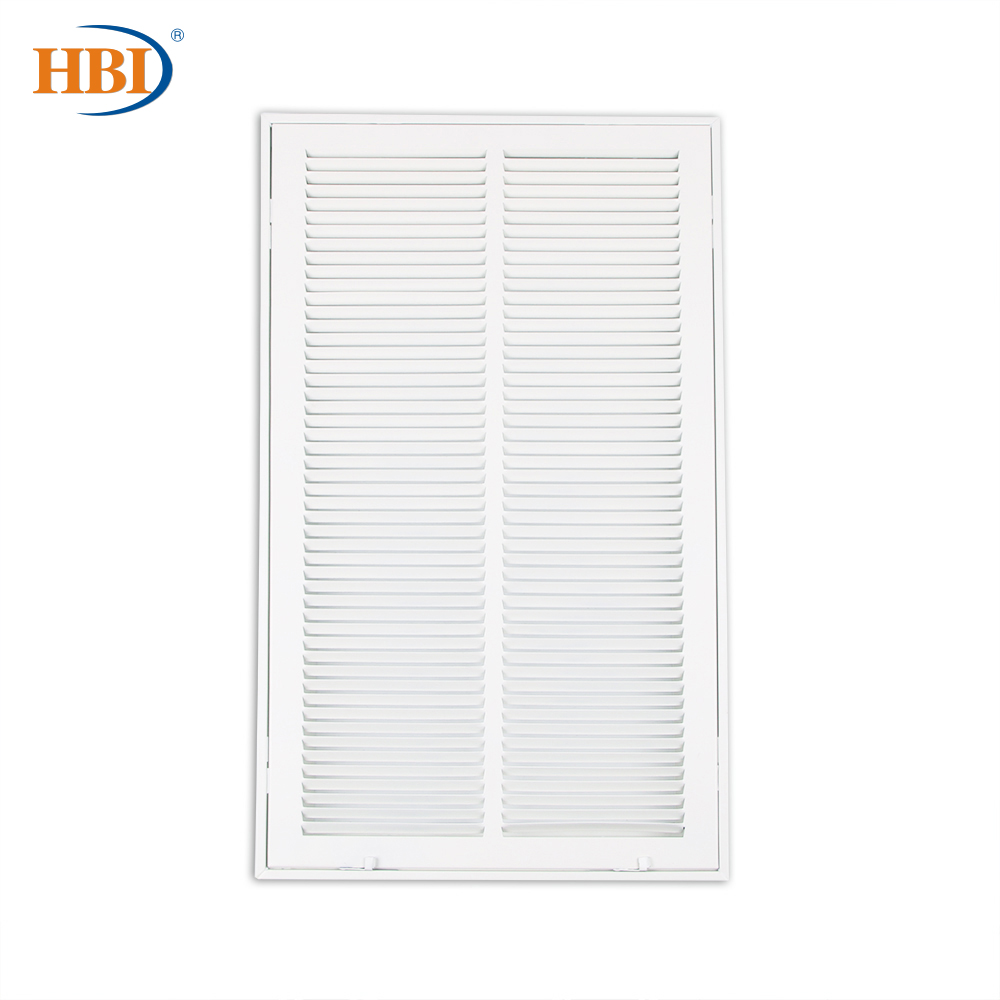 """HBI W14"""" x H25"""" Steel Air Vent Filter Return Air Grille Vent Cover White Powder Coating with Frame Ceiling and Sidewall Cover"""