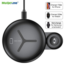 10W 2 in 1 QI Wireless Charger For iPhone X XS Max XR 8 Fast Charging Station Apple Watch 4 3 Desktop