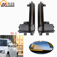 цена на For Audi A3 S3 8P 10- 2012 A4 S4 RS4 B8 8K ( B8.5 ) A5 S5 RS5 2011-2015 Side Wing Mirror Indicator Dynamic Turn Signal LED Light