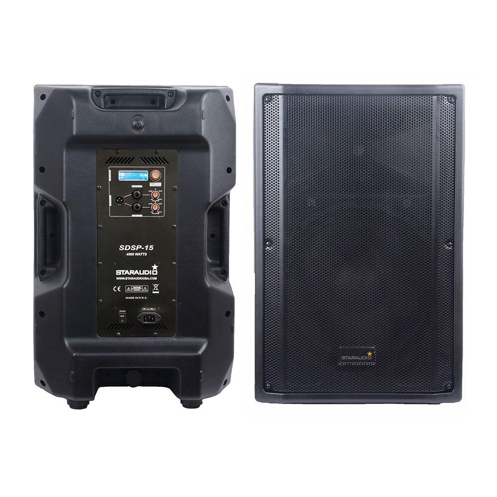 STARAUDIO 4500 Вт 15 дюймов PA питание активная DJ акустическая система вечеринка КТВ этап караоке аудио DSP 4 Ом акустическая система SDSP-15