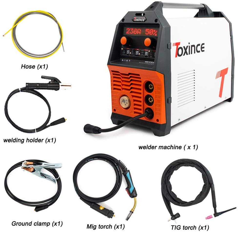 MIG230AL Digital Aluminum Welder MiG // Pulse/double Pulse/arc/lift Tig DC Aluminum Welder Machine