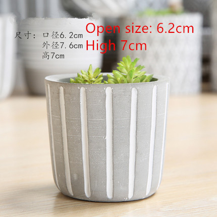 Multiple Stripes Cylindrical Cement Flowerpot Silicone Molds Diy Handmade Clay Pot Mold Home Landsape Planter Mould in Clay Molds from Home Garden