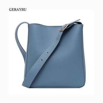 Fashion Women Shoulder Bag PU Leather Simple Female  Crossbody Waterproof Khaki Daily Bucket