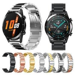 Metall Handgelenk Gurt Für HUAWEI UHR GT 2 46mm 42mm/GT Aktive Band Armband für HONOR Magie austauschbare zubehör Uhrenarmbänder