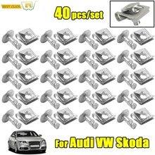 Clips de couvercle de boîte de vitesses, 40 pièces, pour Audi A3 A4 B6 B7 A6 A8 TT VW Passat B5 SKODA, superbe sous-plateau, vis de protection contre les éclaboussures
