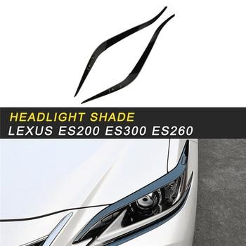 Front Light Lamp Headlight Cover Trim Frame Sticker For Lexus ES 2018 ES200 ES300 ES260 Car Styling