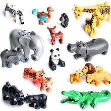 Building-Blocks Figures Animal-Accessories Gifts Lion Panda-Compatible Toys For Kids