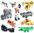 Große Größe Diy Bausteine Tier Zubehör Figuren Lion Panda Kompatibel mit Großen Größe Spielzeug für Kinder Kinder Geschenke
