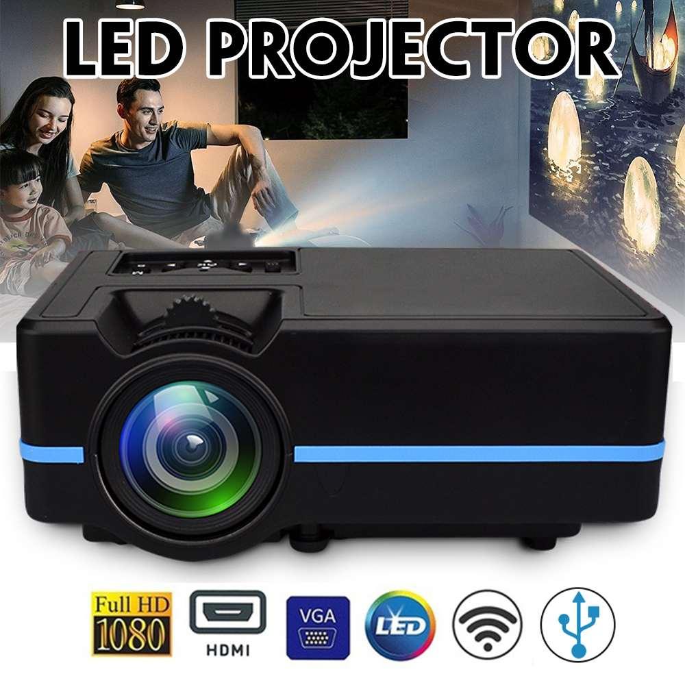 Mini LED Full HD Projektor LCD 2200 lumen Zoom Bunte Tragbare Heimkino Cinema Unterstützung 4K Android HDMI/USB/VGA