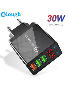 Elough Quick charge 3.0 USB Charger for iPhone 11 7 Xiaomi Samsung Huawei 5V 3A Digital