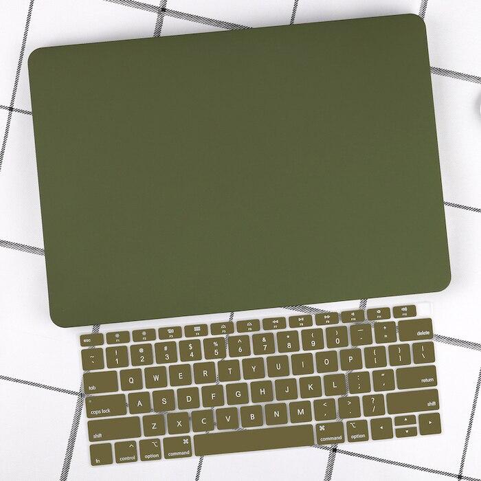 Чехол для ноутбука 4 в 1 для MacBook Air 11, 13 дюймов и Pro retina 13,3, 15,,,, кристально Матовый Жесткий чехол для клавиатуры - Цвет: Green