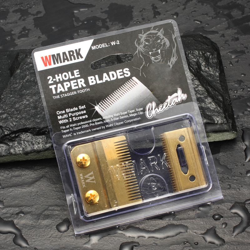 WMARK W-2 Professional 2-Hole Clipper Blade Stagger-tooth Movable Blade With Screw Replacement Blade High Quanlity Material