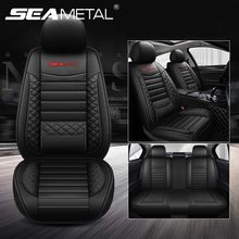 Luxury Full Car Seat Covers Set Universal PU Leather Auto Seat Cushion for toyota BMW Kia Mazda Ford Car Accessories Car Goods