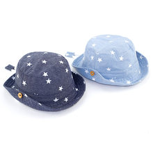 Algodão macio verão bebê chapéu de sol infantil meninos meninas balde chapéu denim algodão criança crianças trator boné