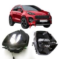 M&C 2PCS Car Fog Light DRL Assembly For KIA Sportage/KX5 2019 2020 Car Daytime Running Light Accessories Auto Parts