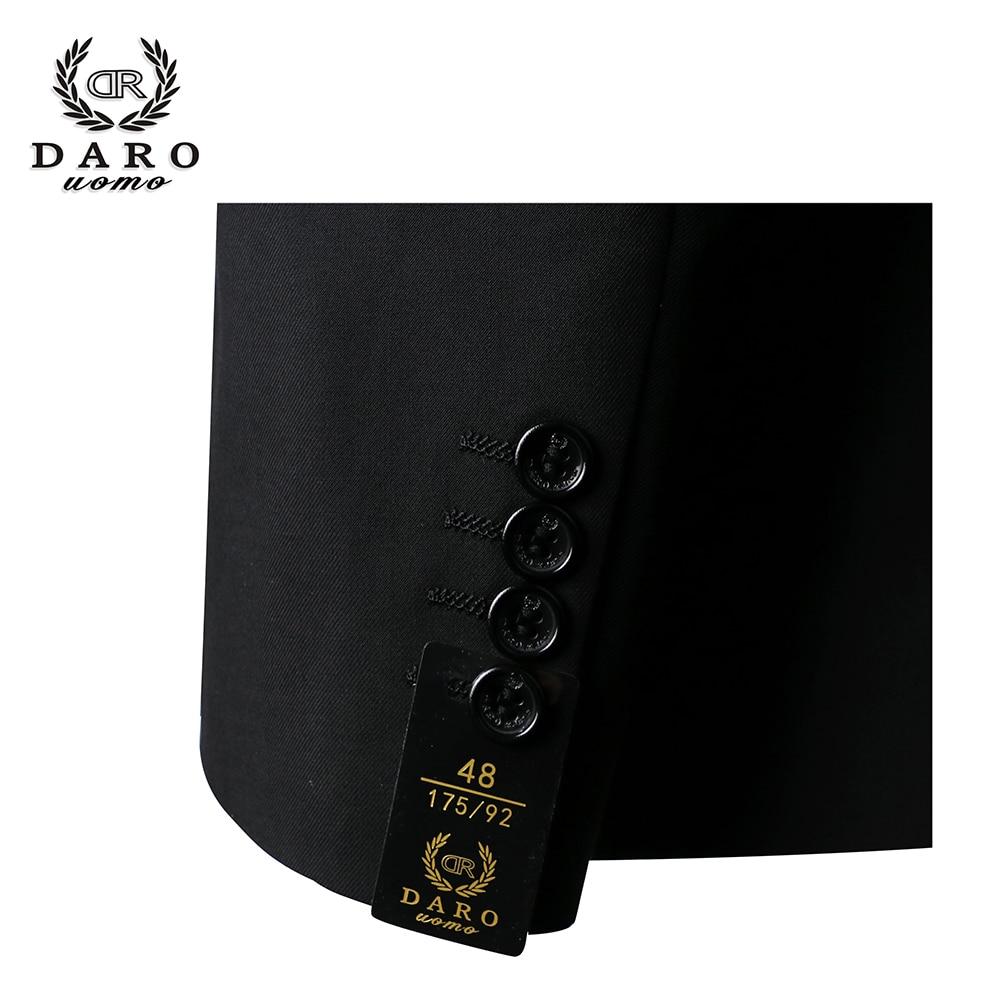 2019 Даро мужские костюмы Slim Fit пиджак брюки жилет для работы в деловом стиле и для свадьбы комплект из 3 предметов DR6158 - 6