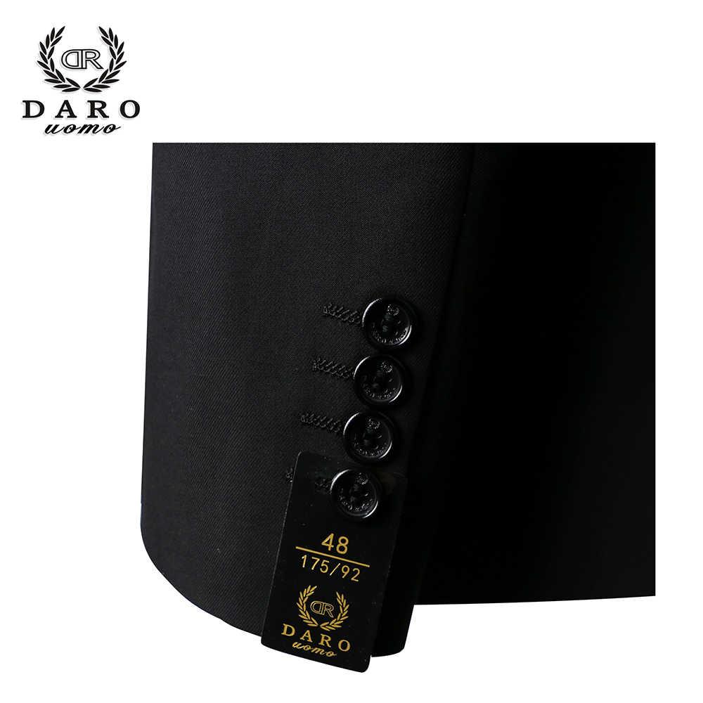 2020 DARO Männer Anzüge Slim Fit Jacke hosen weste für Business Arbeit und jäten Tragen 3Pcs Set DR6158
