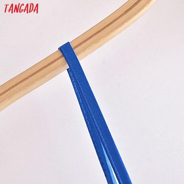 Tangada Women's Party Dress Solid Color Long Dress Strap Adjust Sleeveless 2021 Korean Fashion Lady Elegant Dresses QN62 2