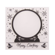 Merry Christmas  Decoration Plastic Embossing Folder For Scrapbook DIY Album Card Tool Plastic Template 0427