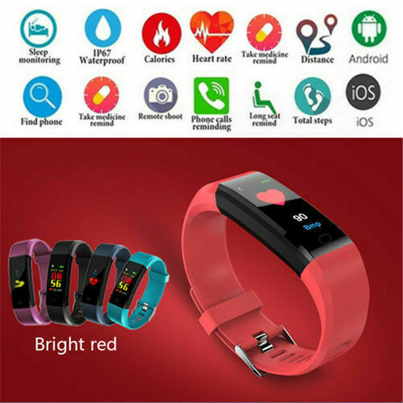 2020 Hot Women Men Fitness Waterproof Smart Watch Activity Tracker Heart Rate Fitbit For Android IOS Smart Watch Women