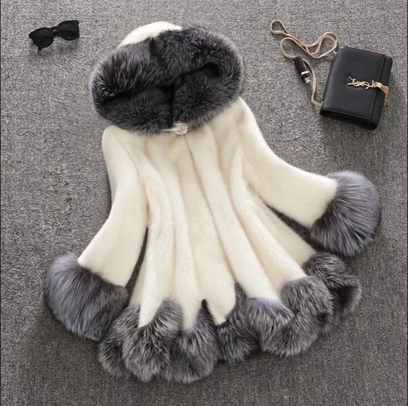 Casaco de pele de vison genuíno natural quente de inverno da marca superior das mulheres casaco longo atacado venda quente multi cores mix